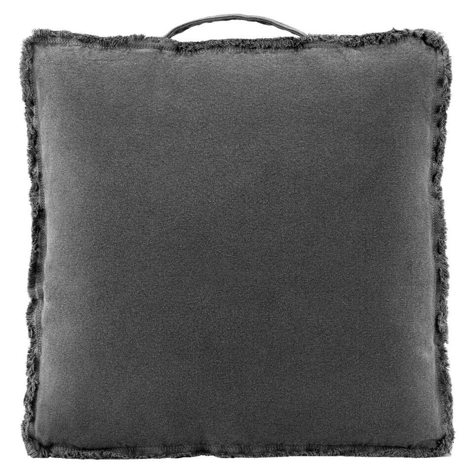 coussin matelas mick gris anthracite 45x45x4 cm. Black Bedroom Furniture Sets. Home Design Ideas