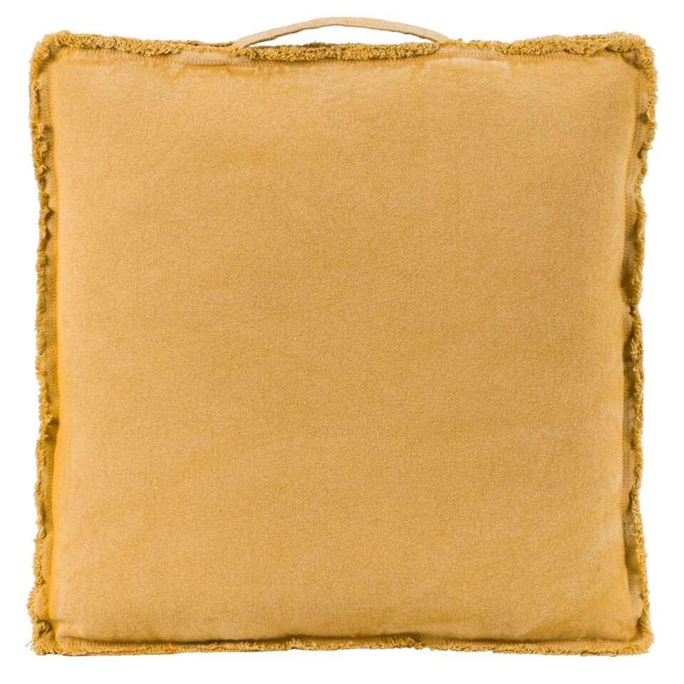 coussin matelas mick - jaune moutarde - 45x45x4 cm