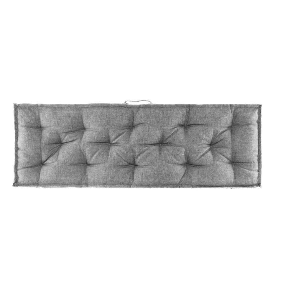 Palletkussen rug Lucca - antraciet - 120x40 cm - Leen Bakker