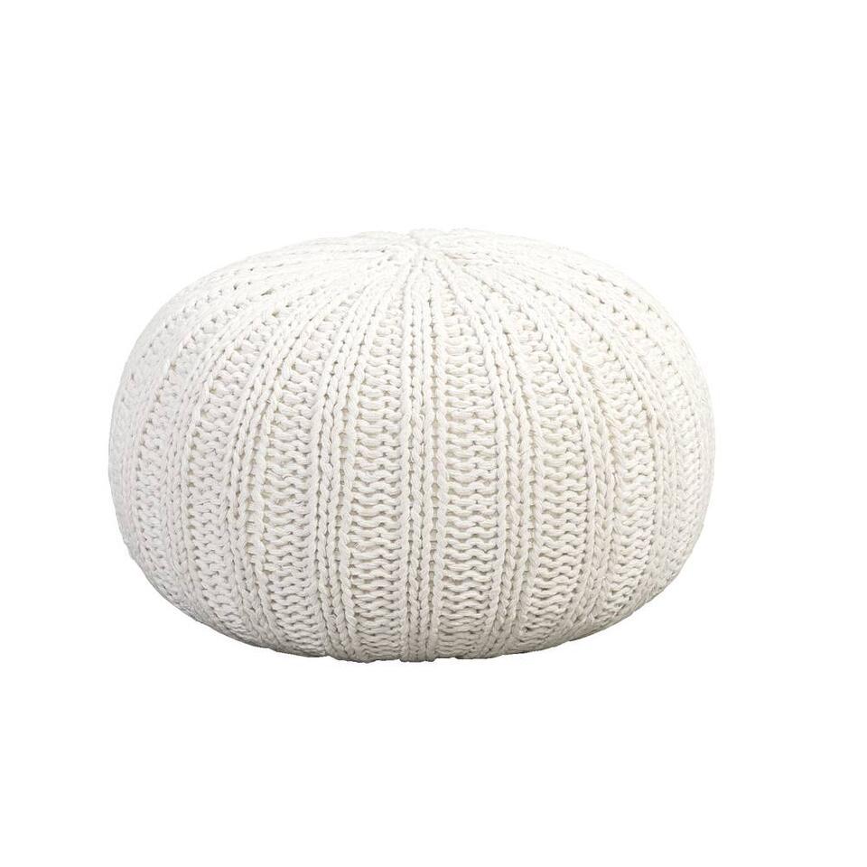 Pouf Milou - blanc - 46x32 cm