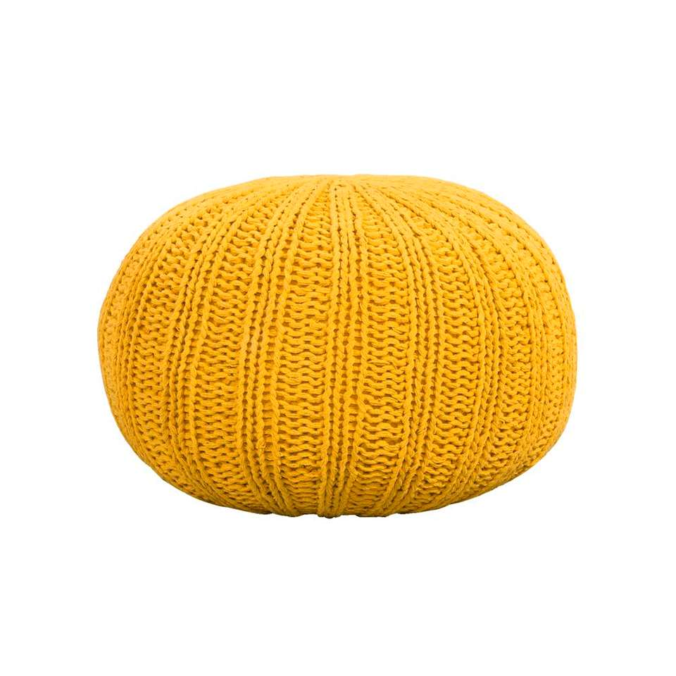 Pouf Milou - jaune - 46x32 cm