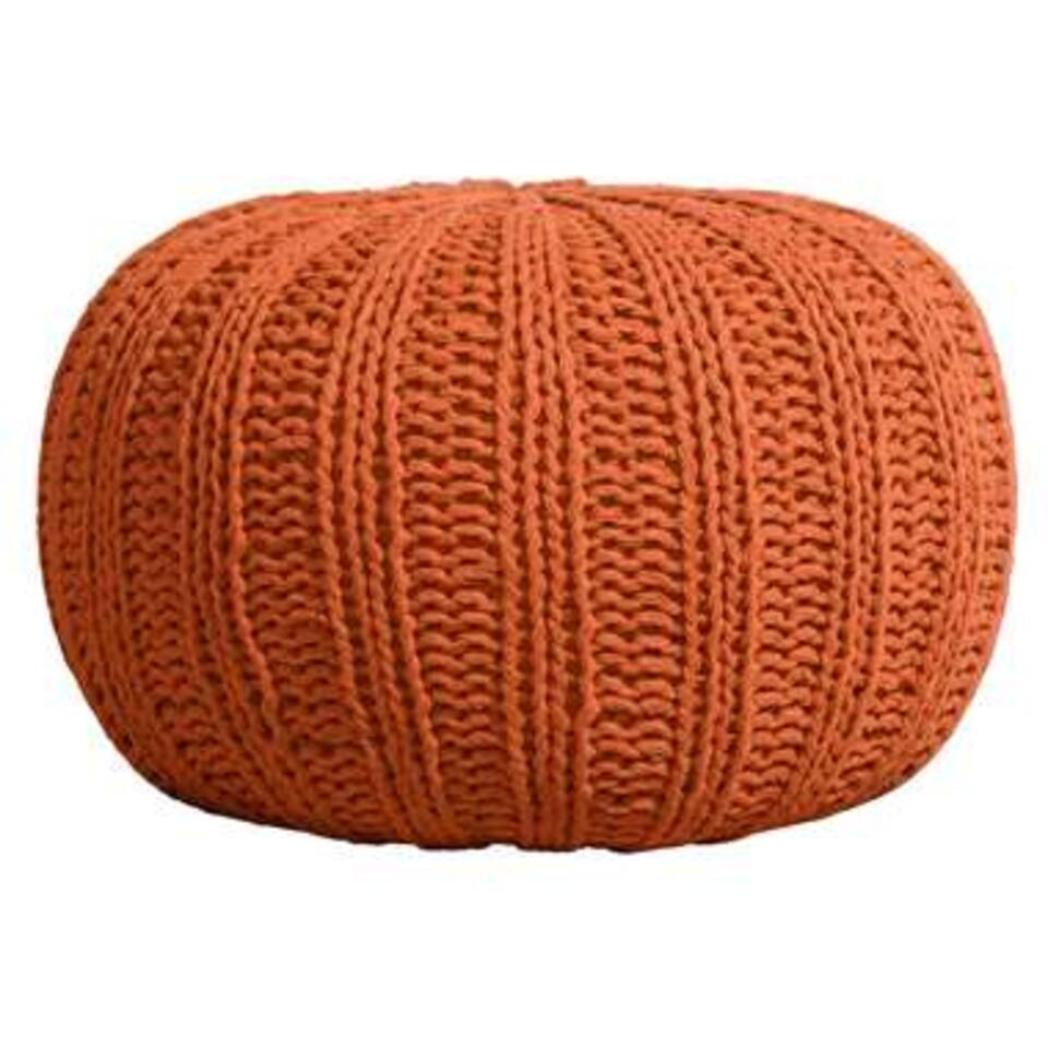 Pouf Milou - brun rougeâtre - 46x32 cm