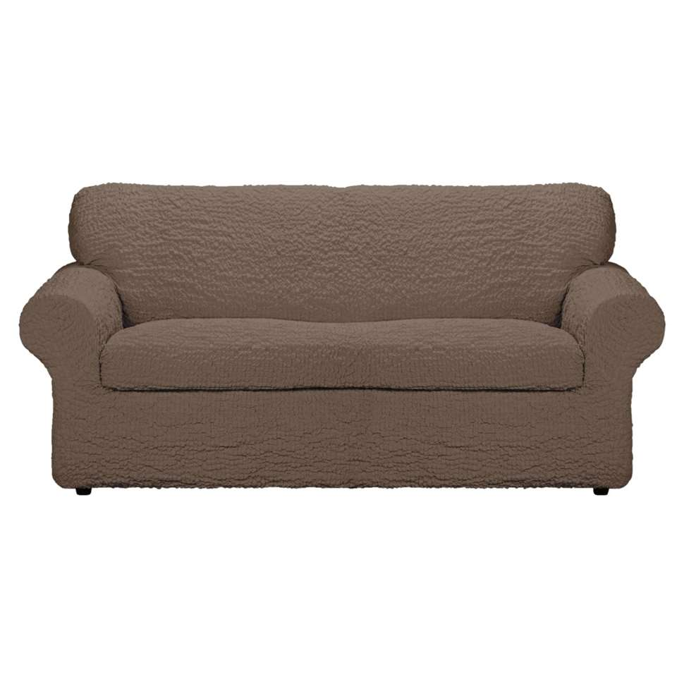 Met deze meubelhoes Josefien 3-zits zorgt u ervoor dat uw zetel of fauteuil niet beschadigd wordt. De hoes heeft een bruine kleur en is gemaakt van katoen, polyester en elastaan.