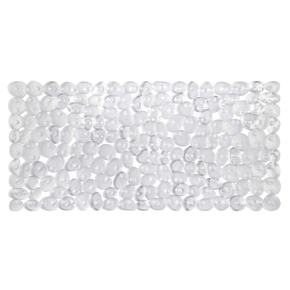 tapis de bain antidrapant lapis transparent 73x36 cm - Tapis De Bain Antiderapant