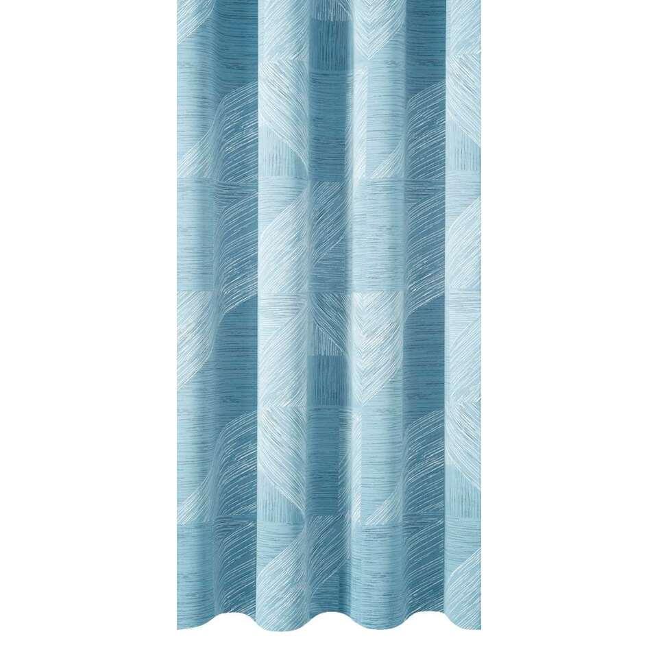 tissu pour rideaux leeds bleu clair. Black Bedroom Furniture Sets. Home Design Ideas