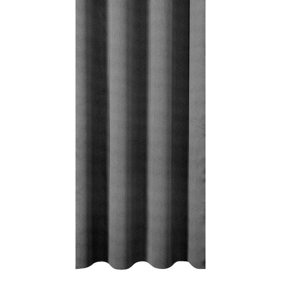tissu pour rideaux canterbury gris fonc. Black Bedroom Furniture Sets. Home Design Ideas