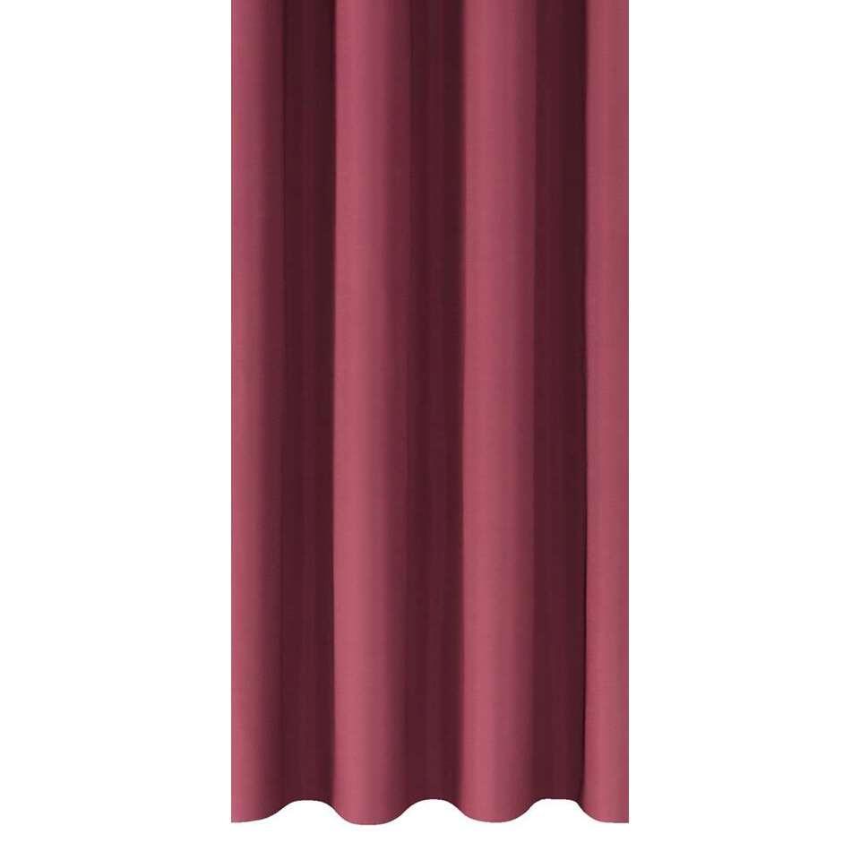 tissu pour rideaux marnix rouge fonc. Black Bedroom Furniture Sets. Home Design Ideas