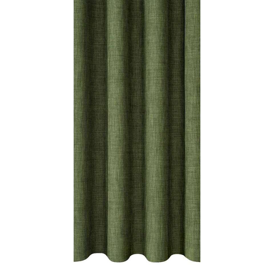 Gordijnstof Sieb - groen - 140 cm