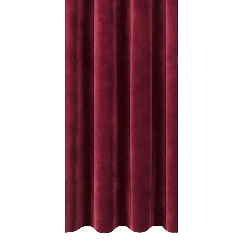 tissu pour rideaux coco bordeaux