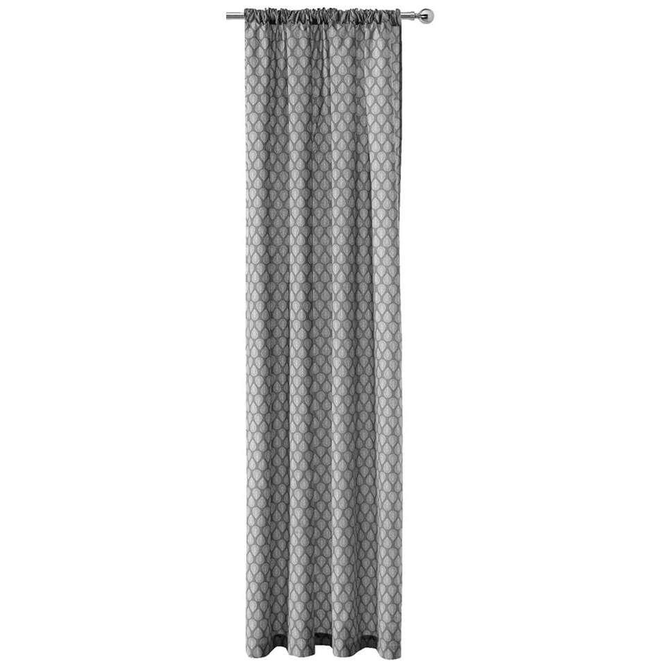 rideau malmo gris clair 250x140 cm 1 pi ce. Black Bedroom Furniture Sets. Home Design Ideas