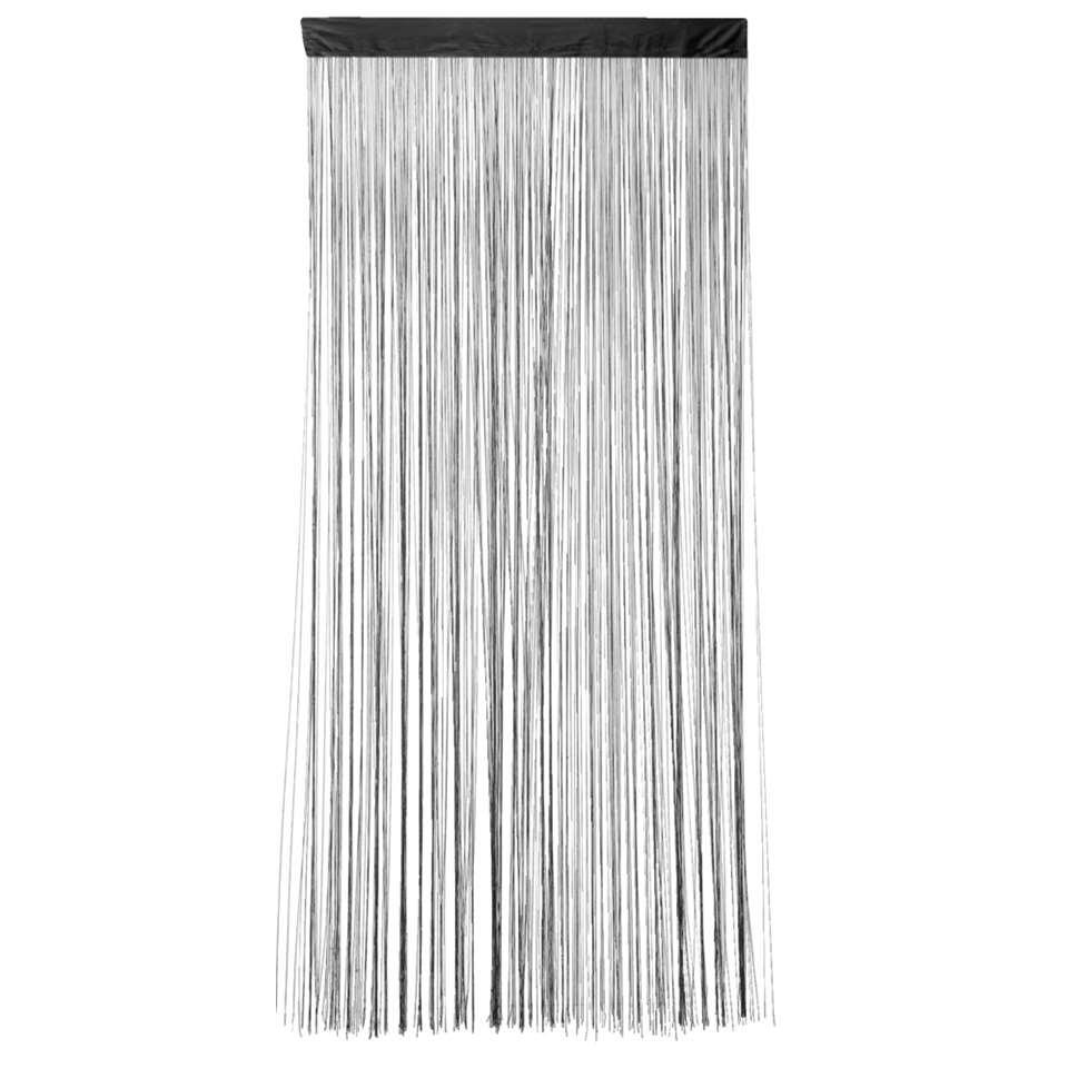 Rideau de porte Lise - noir - 200x90 cm (1 pièce)