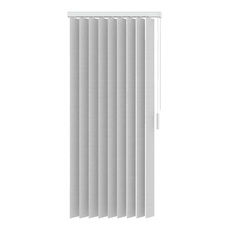 lamelles verticales en tissu translucide 89 mm blanc 150x180 cm. Black Bedroom Furniture Sets. Home Design Ideas