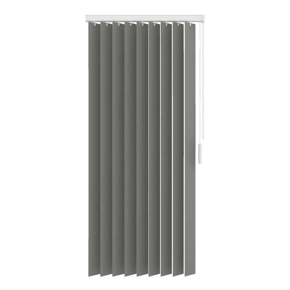 lamelles verticales en tissu translucide 89 mm gris 150x180 cm. Black Bedroom Furniture Sets. Home Design Ideas