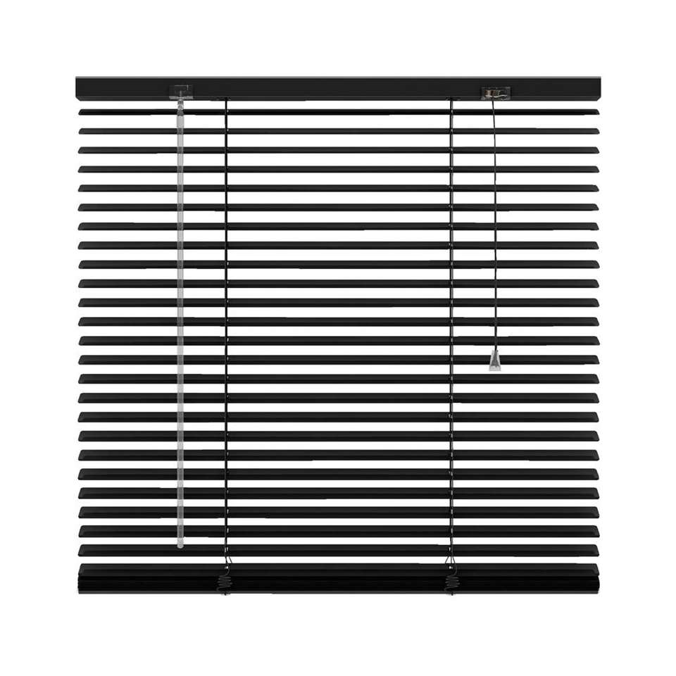 store v nitien horizontal aluminium 25 mm noir 100x130 cm. Black Bedroom Furniture Sets. Home Design Ideas