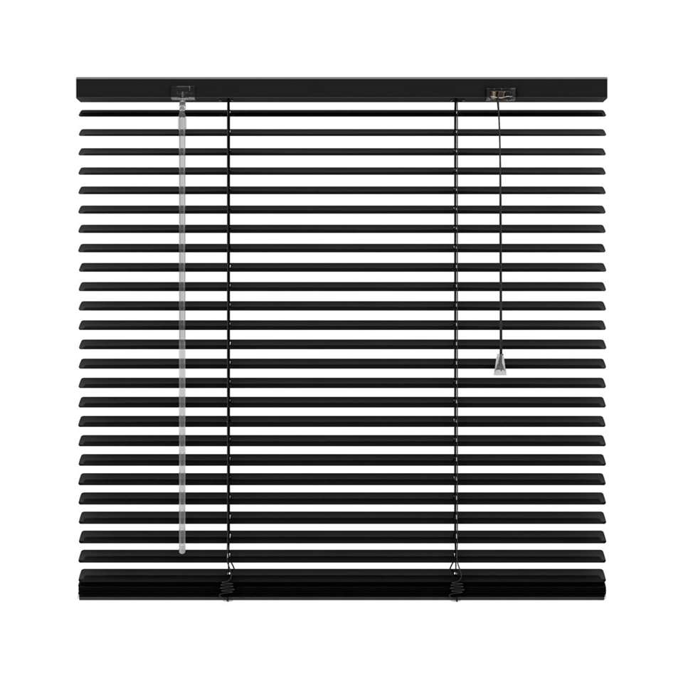 store v nitien horizontal aluminium 25 mm noir 140x180 cm. Black Bedroom Furniture Sets. Home Design Ideas