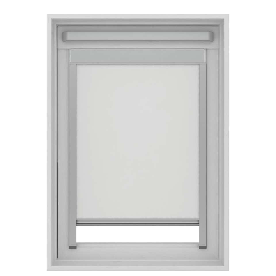 Store Enrouleur Occultant Pour Fenêtre De Toit Blanc Mk04 78x98 Cm
