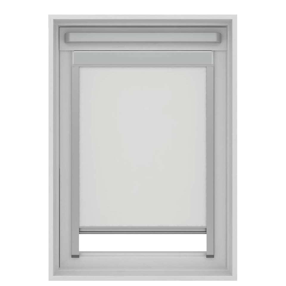 Store Enrouleur Occultant Pour Fenêtre De Toit Blanc Sk06