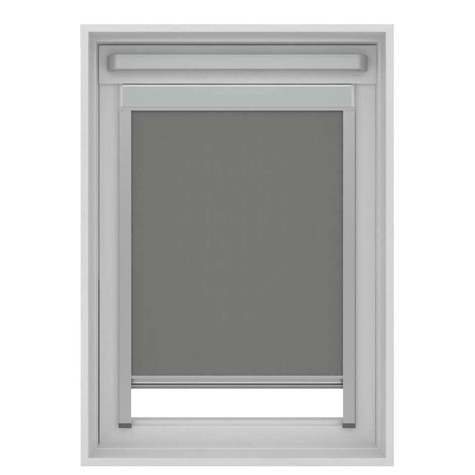 Store Enrouleur Occultant Pour Fenêtre De Toit Gris Sk06