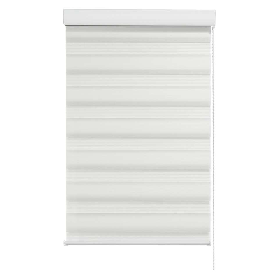 Store enrouleur jour et nuit - blanc - 90x210 cm
