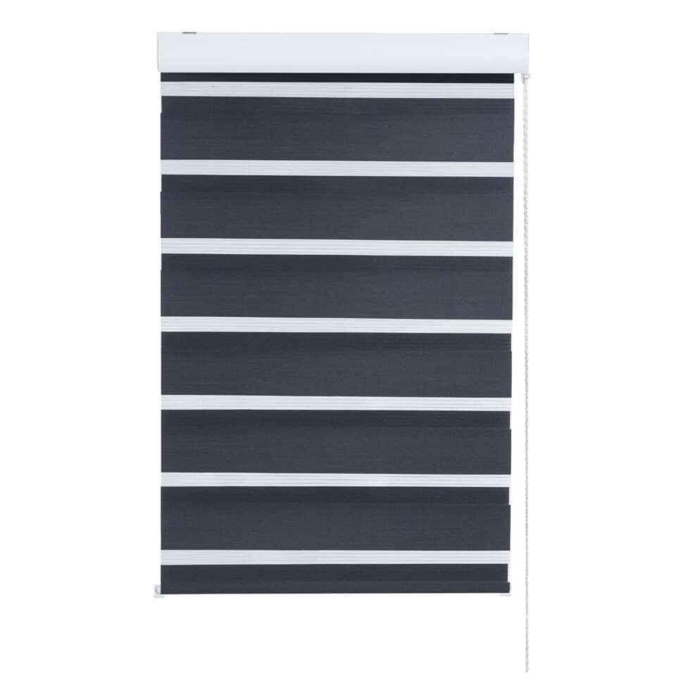 Store enrouleur jour et nuit - noir - 120x160 cm