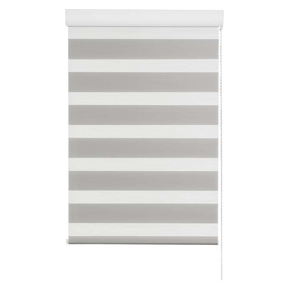 Store enrouleur jour et nuit - gris - 180x160 cm