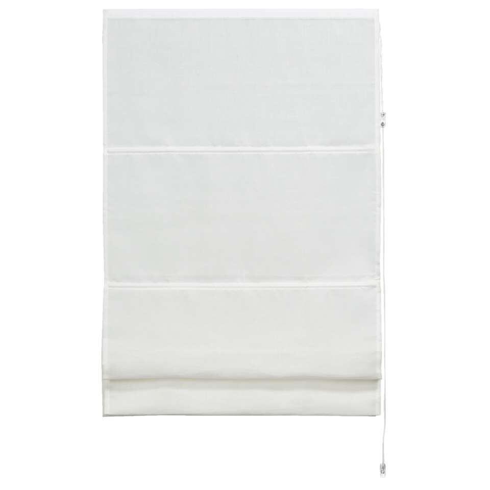 Vouwgordijn transparant - wit - 120x180 cm