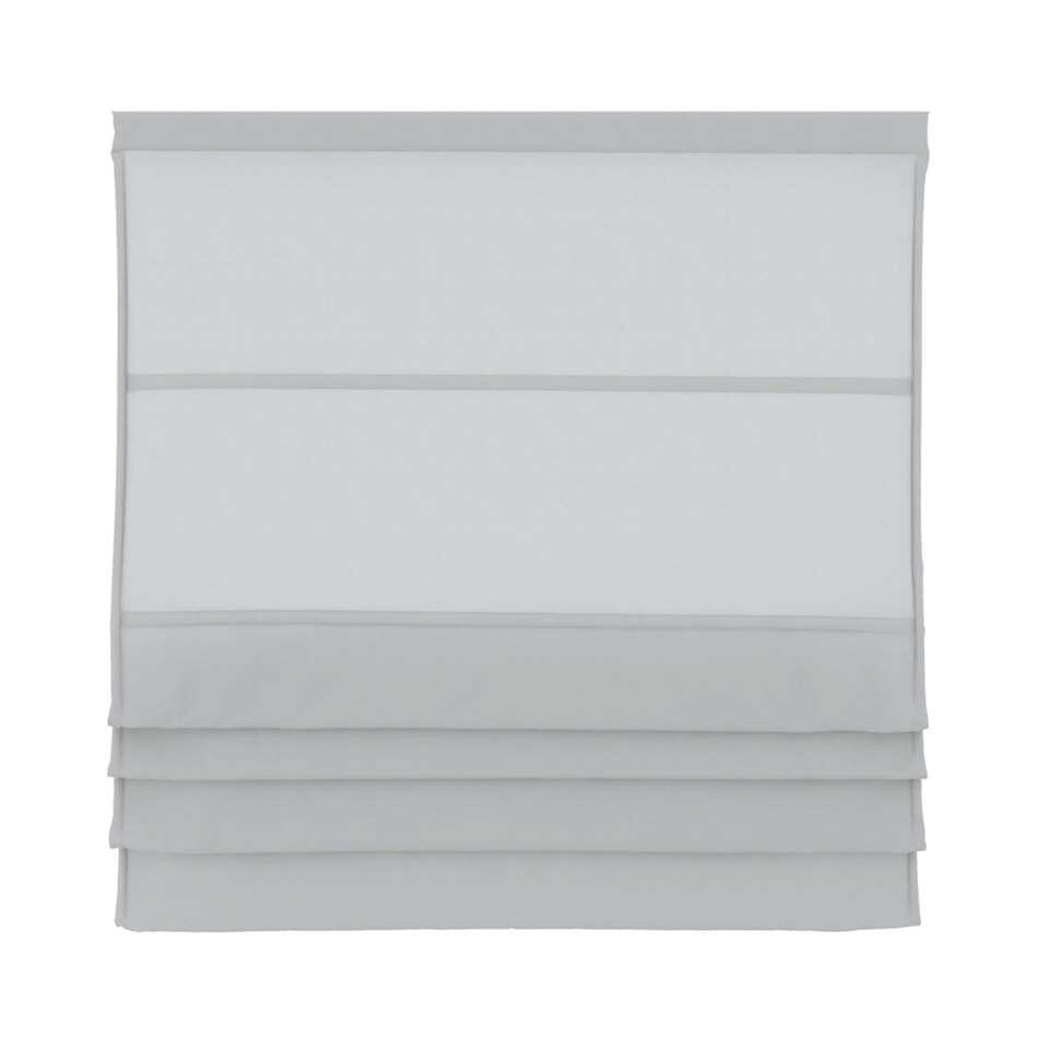 Vouwgordijn lichtdoorlatend - wit - 80x180 cm