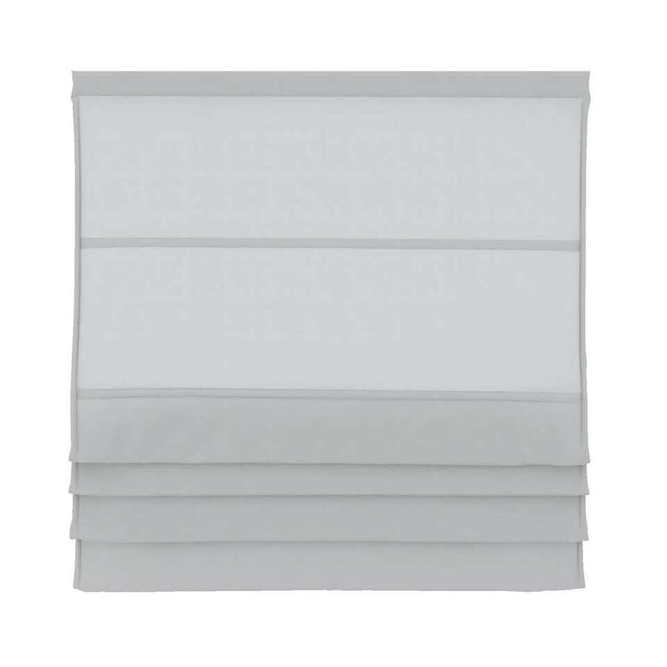 Vouwgordijn lichtdoorlatend - wit - 100x180 cm