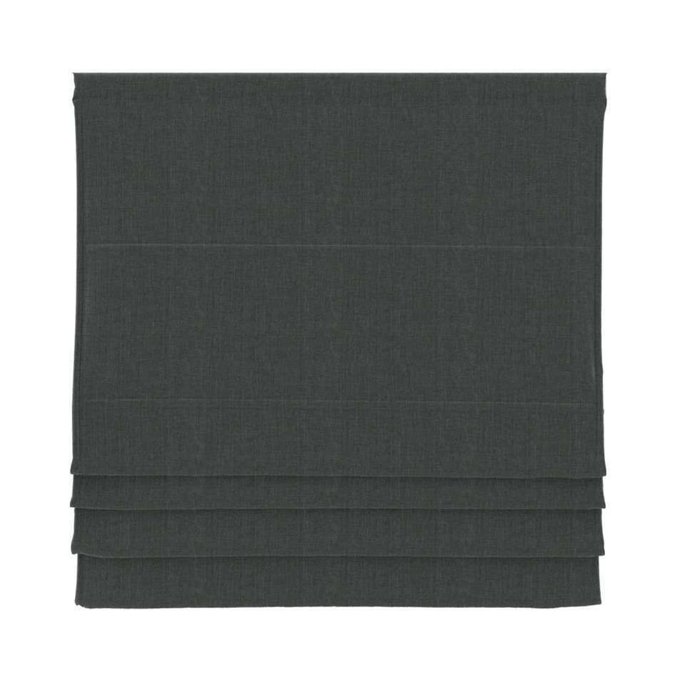 Vouwgordijn verduisterend - antraciet - 120x180 cm