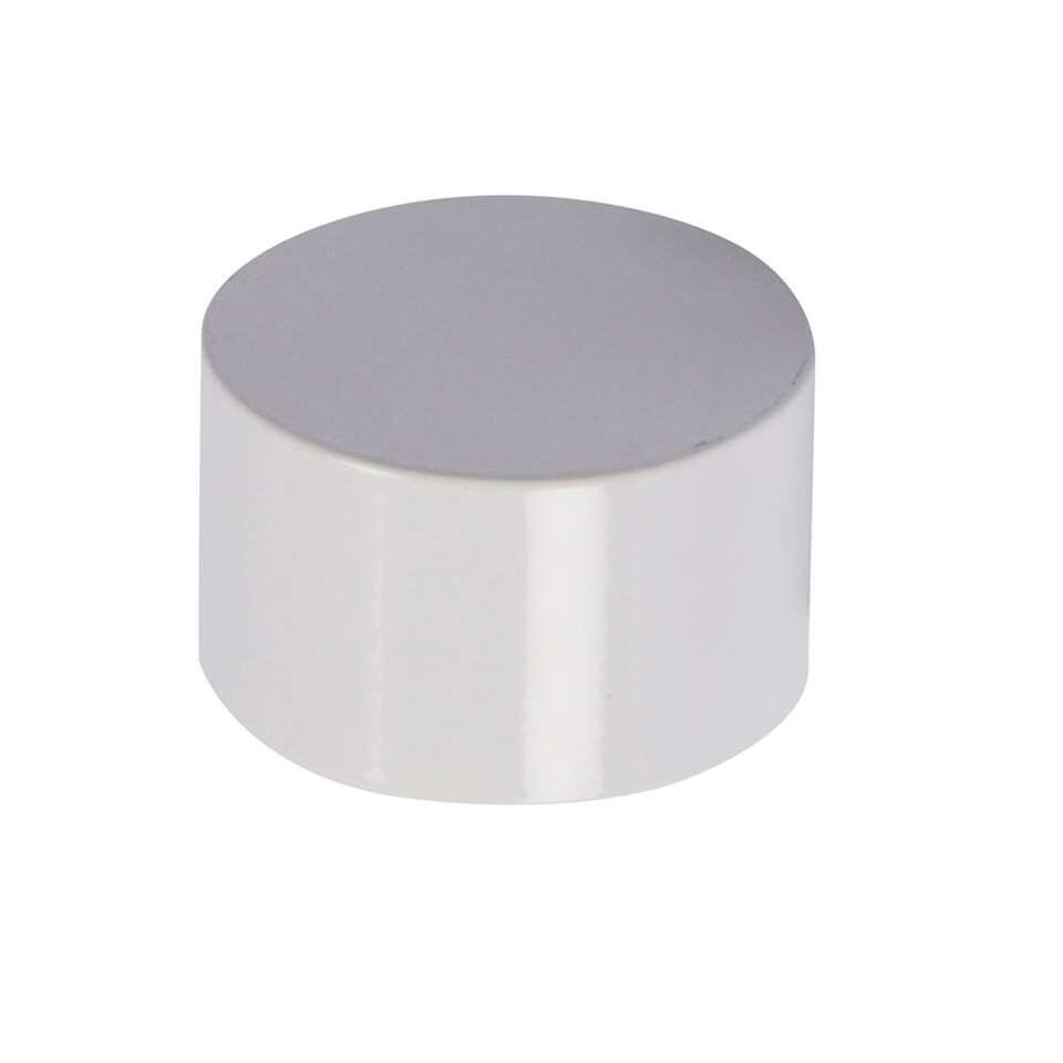 Tringle à rideaux bouton Cap 20 mm - blanc brillant (2 pièces)