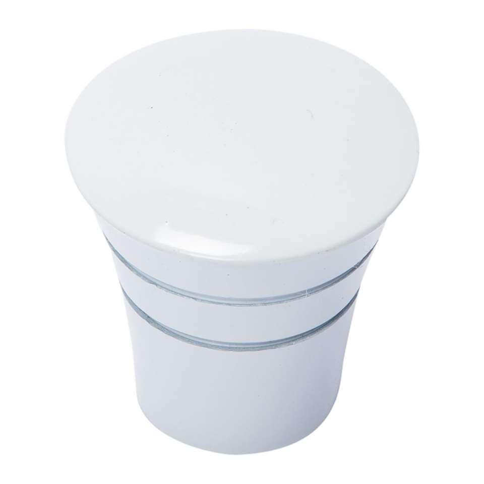 Tringle à rideaux bouton Conical 20 mm - blanc brillant (2 pièces)