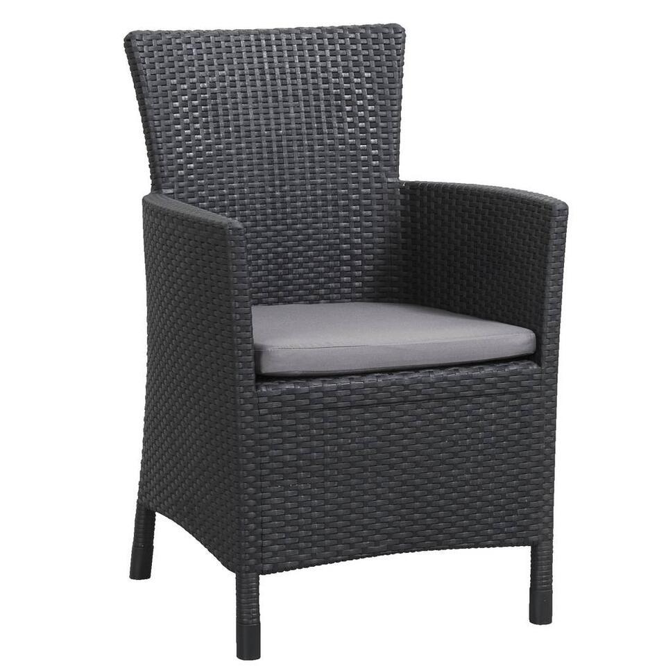 Allibert fauteuil Iowa incl. zitkussen - grijs - Leen Bakker