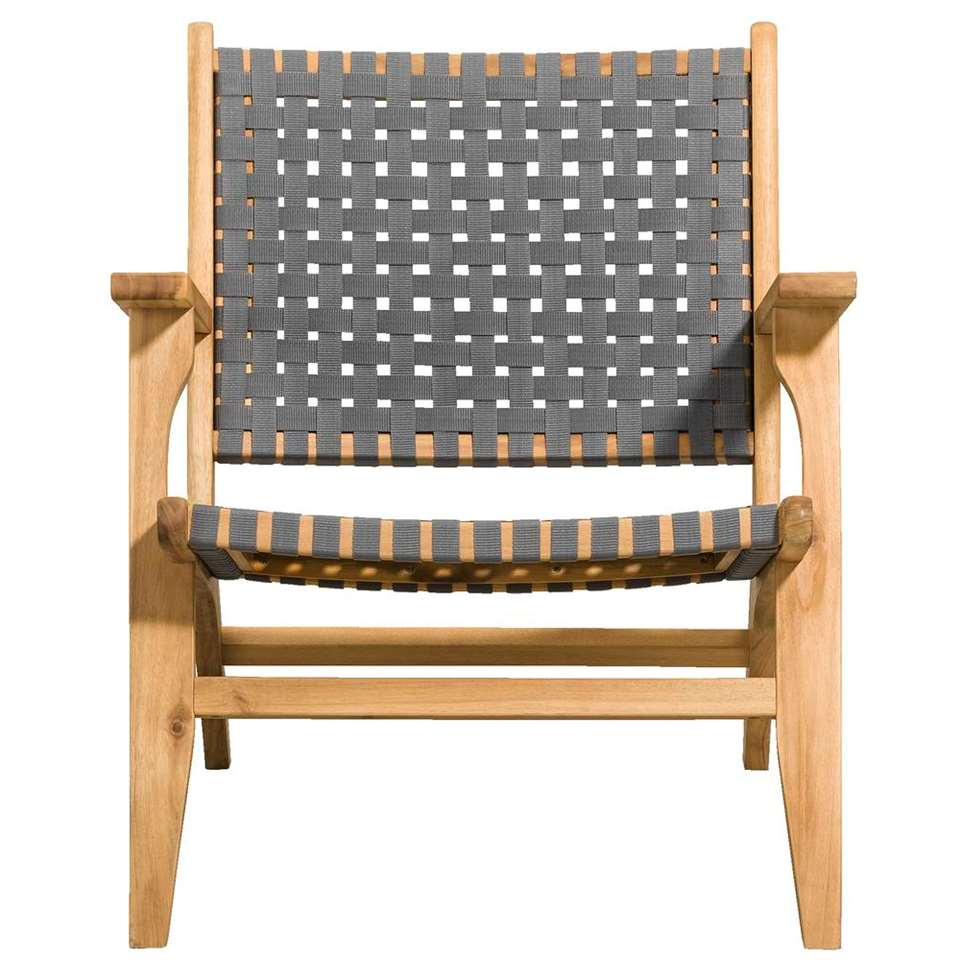 Le Sud loungefauteuil Sarlat - grijs - 78x67x75 cm - Leen Bakker
