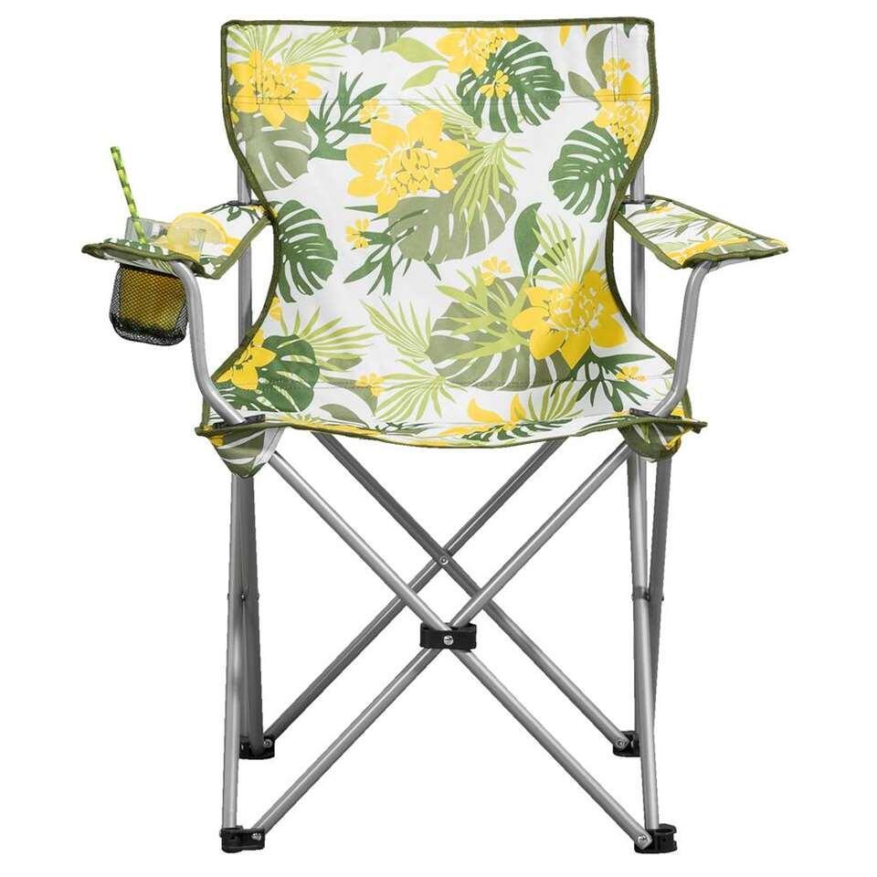 Campingstoel Aruba - groen/geel/wit - Leen Bakker