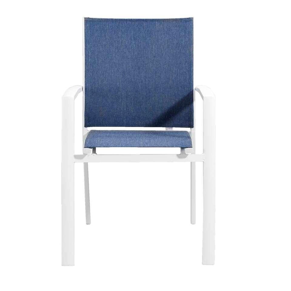 Le Sud stapelstoel Toulon - wit/blauw - Leen Bakker