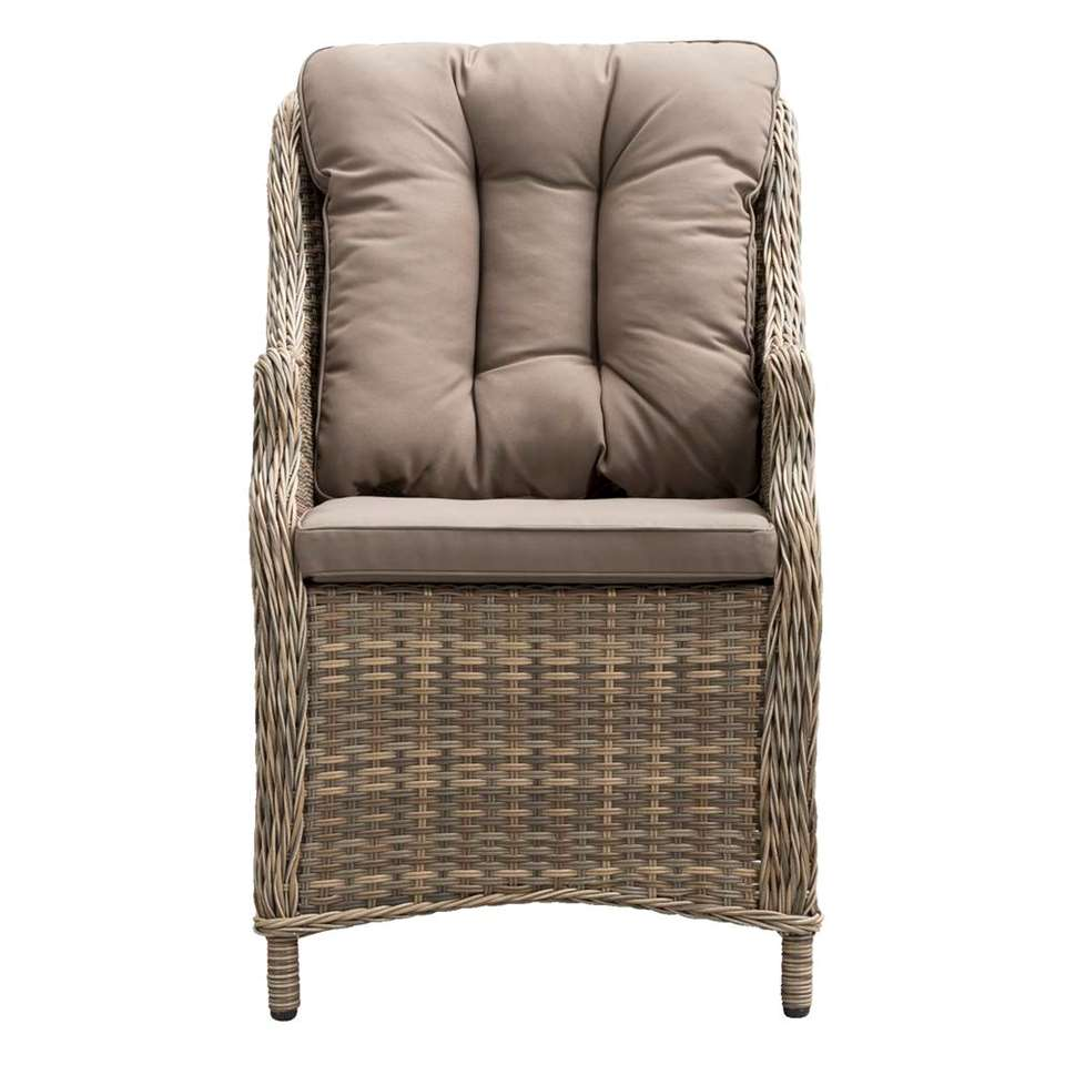 Le Sud loungefauteuil hoog Verona - kubu grijs - Leen Bakker
