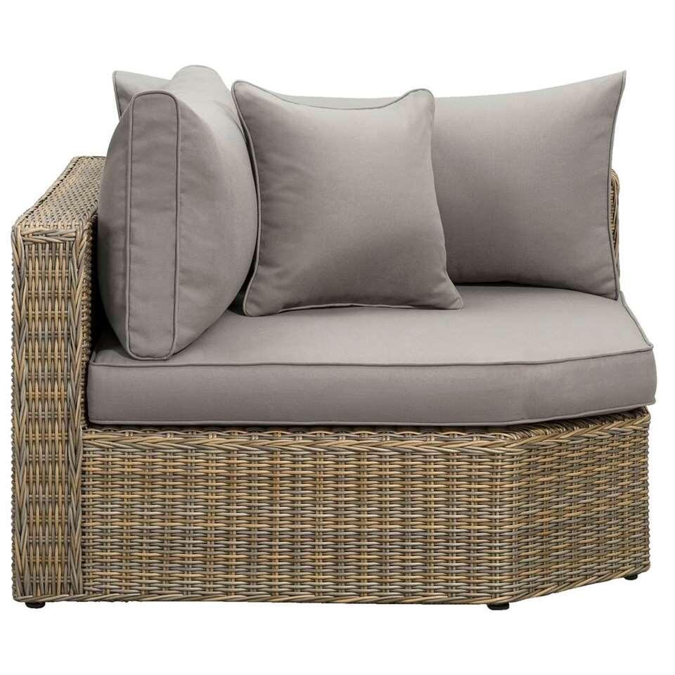 Le Sud hoekfauteuil Pescara XL - taupe - 110x110x66 cm