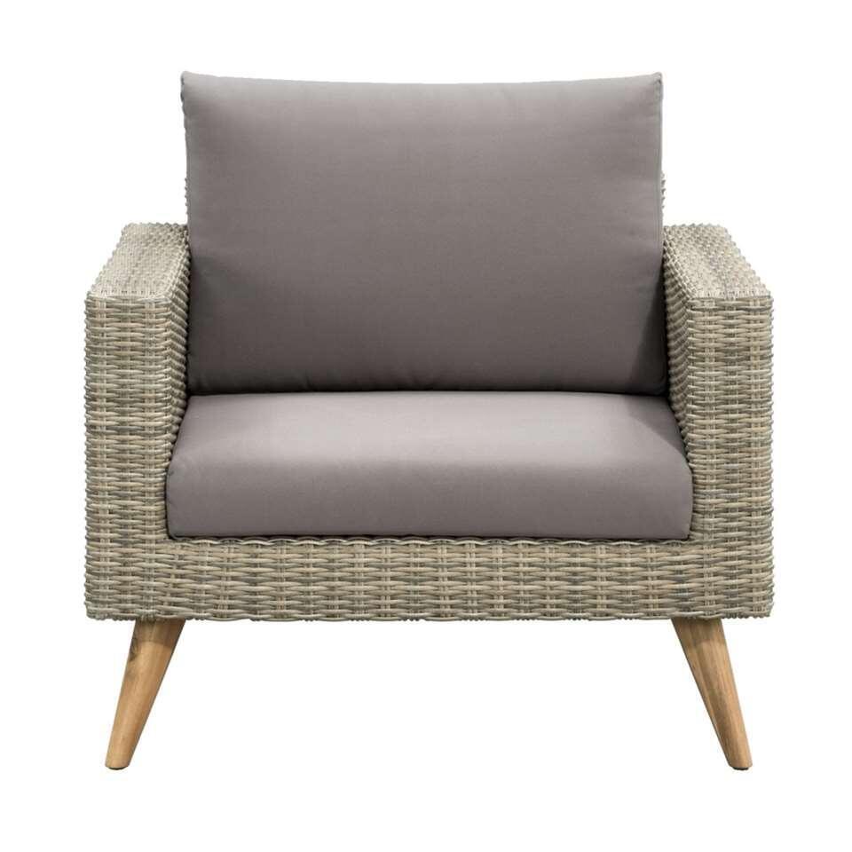 Le Sud fauteuil lounge Castilla - gris - 82x91x74 cm
