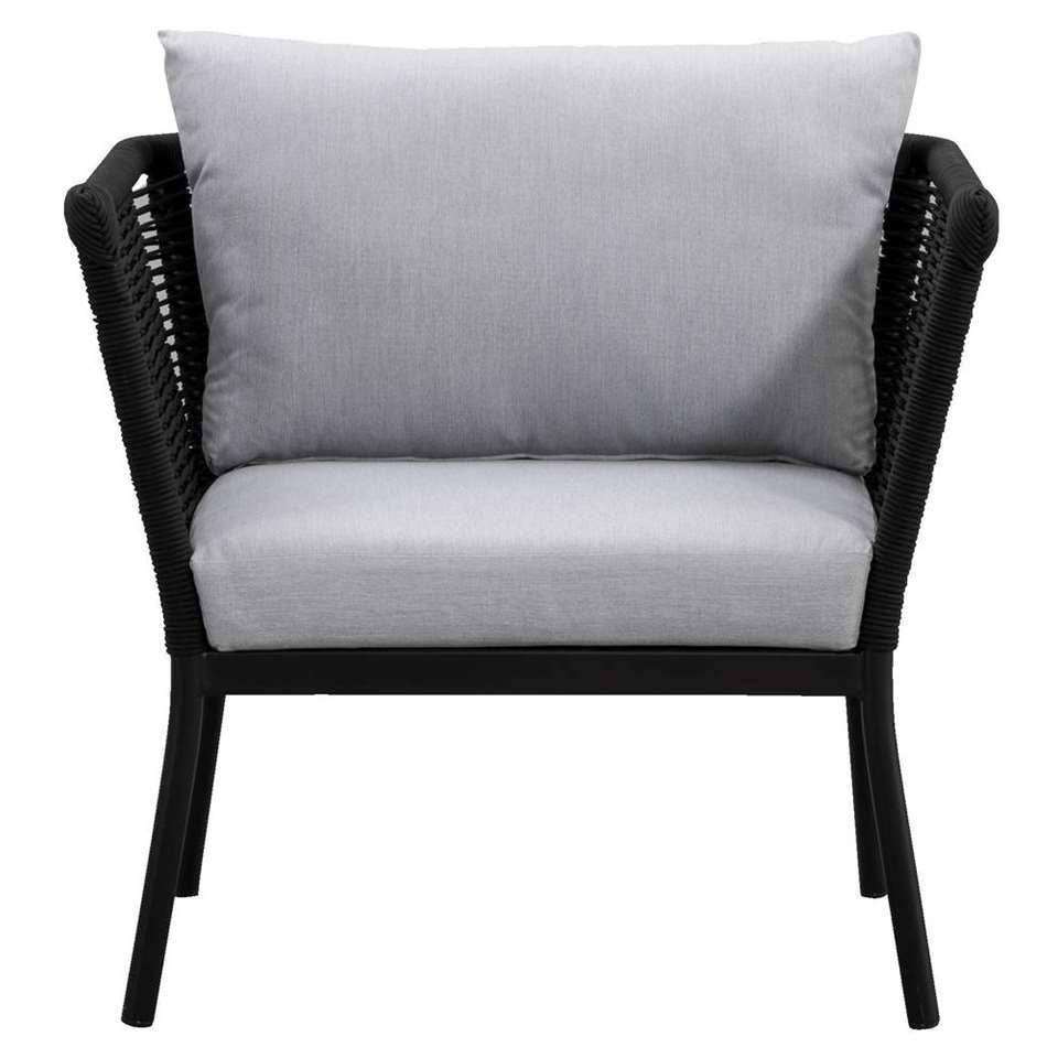 Le Sud fauteuil lounge Viviers (coussins inclus) - noir mat