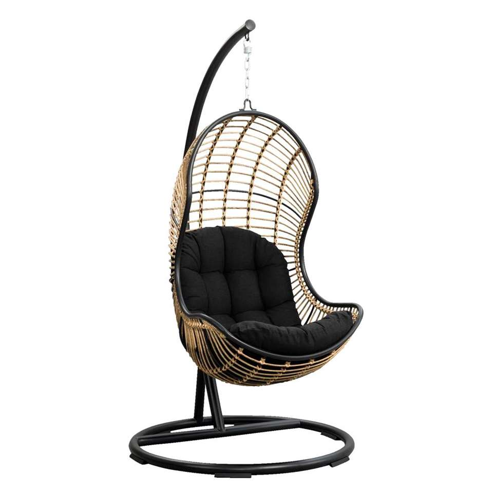 Hangstoel Met Parasol.Le Sud Hangstoel Vienne Zwart 105x196 Cm
