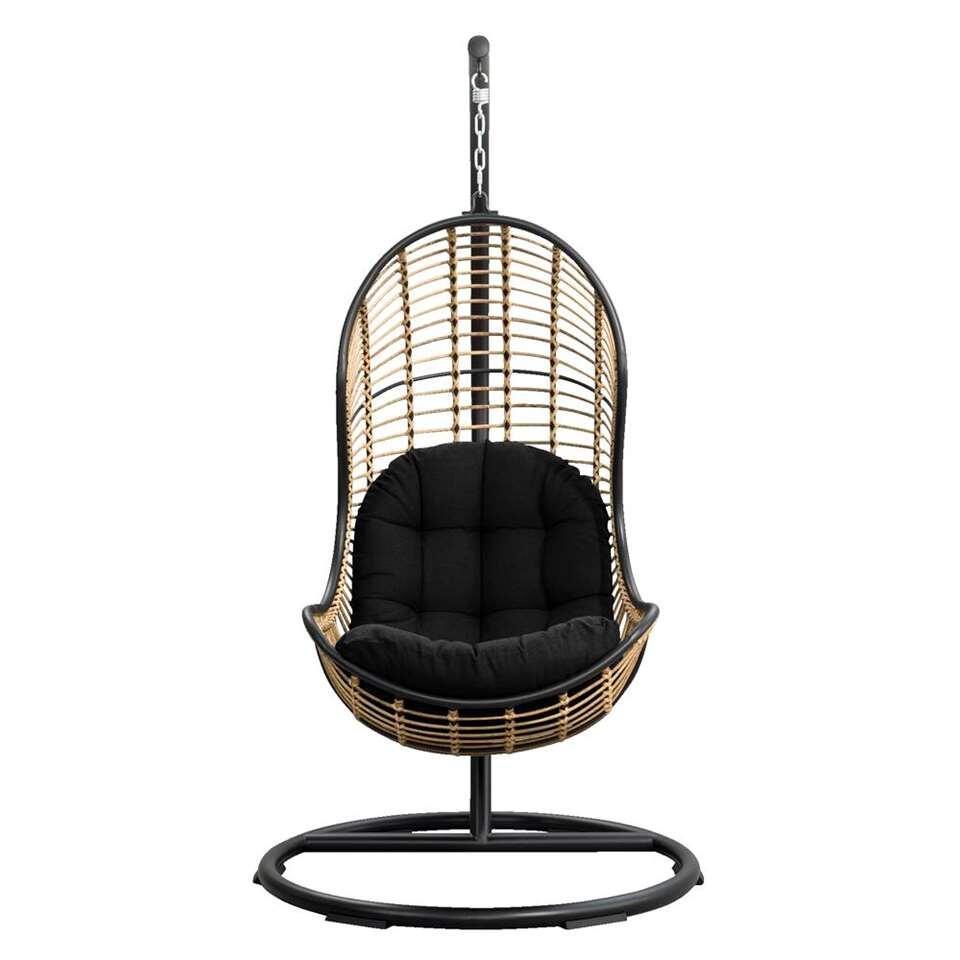 Hoe Maak Je Een Hangstoel.Le Sud Hangstoel Vienne Zwart 105x196 Cm