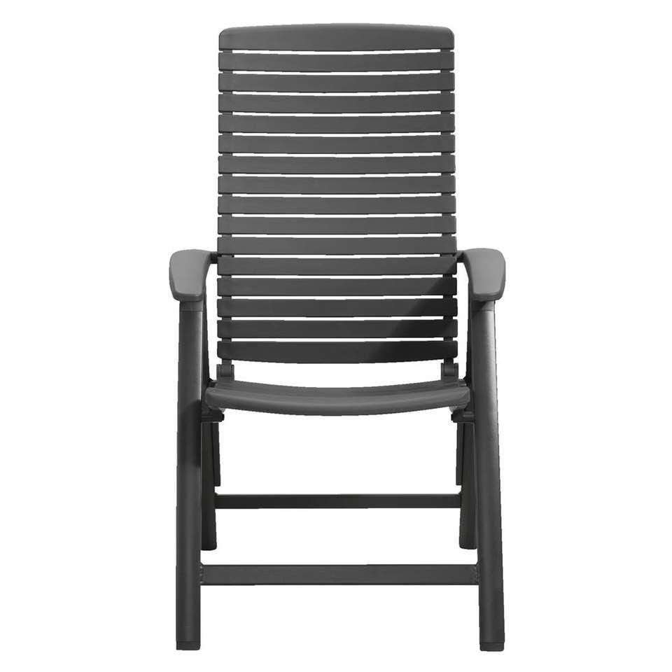 Le Sud terrasstoel Royan - antraciet - 74,1x64,7x108,3 cm - Leen Bakker