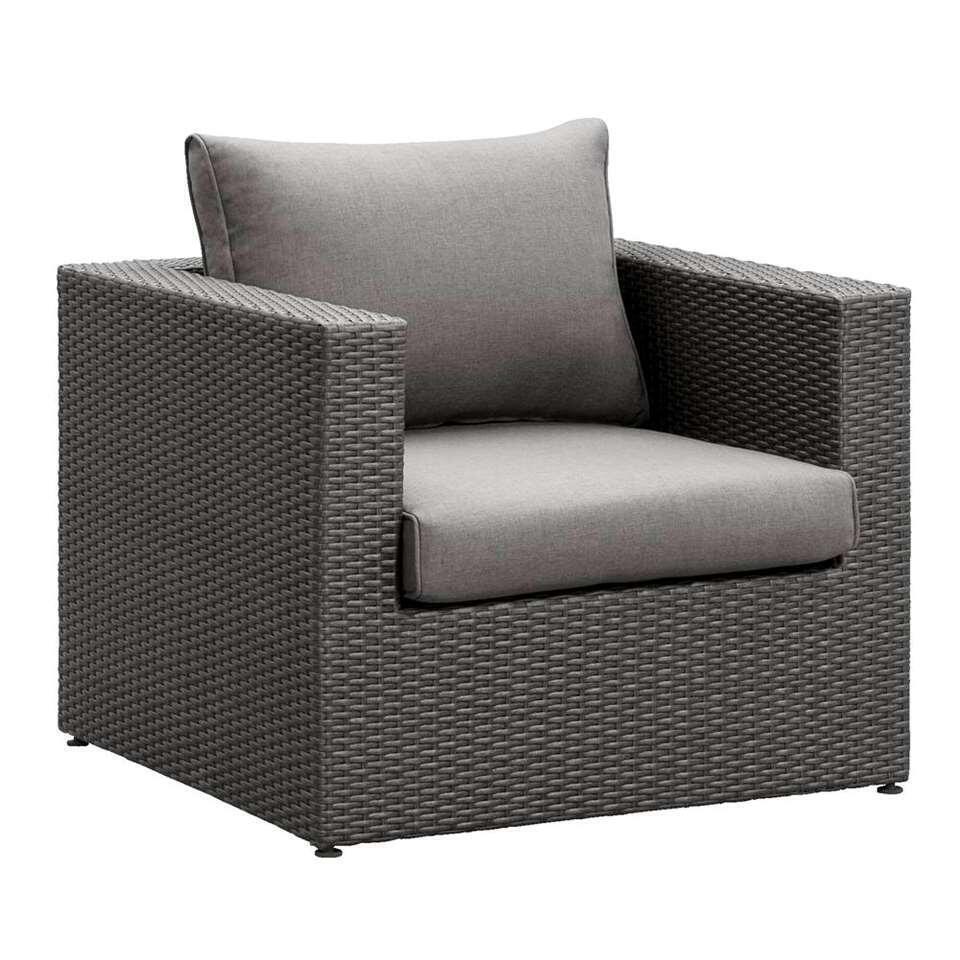 Le Sud fauteuil Ancona - antraciet - Leen Bakker