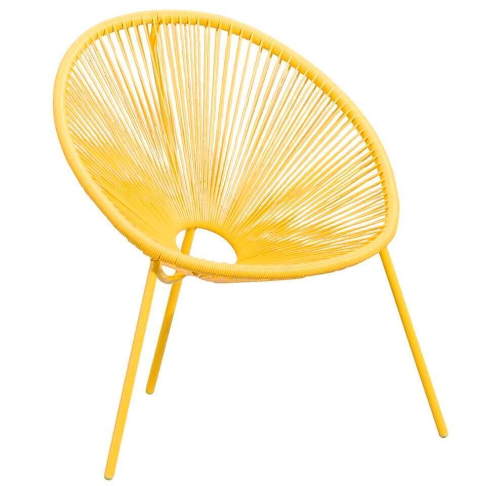 Loungestoel Formentera - geel - Leen Bakker