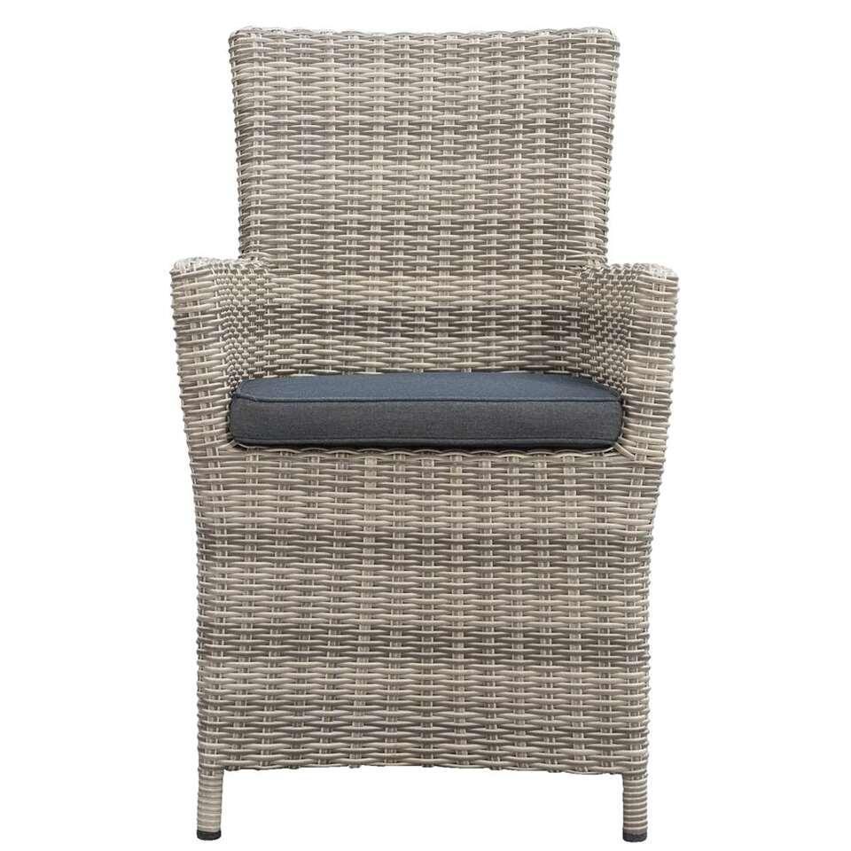 Le Sud fauteuil Millau incl. kussens - grijs - Leen Bakker
