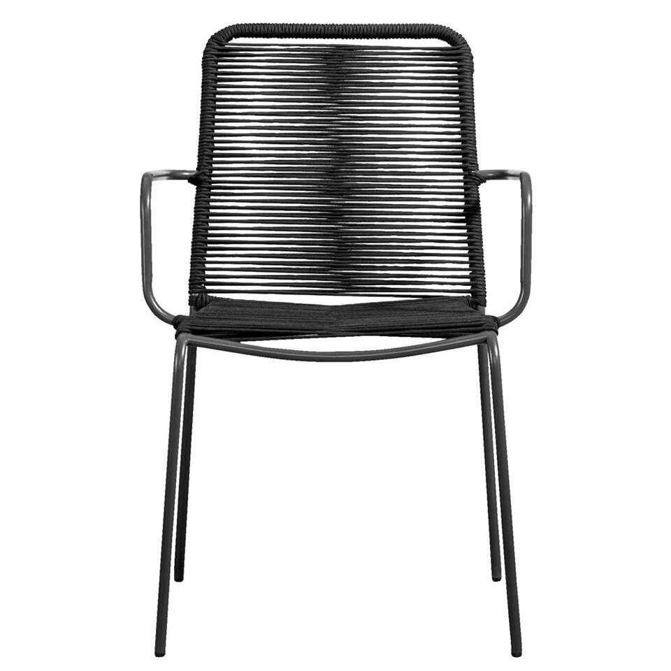 Le Sud fauteuil Metz - zwart/antraciet - Leen Bakker