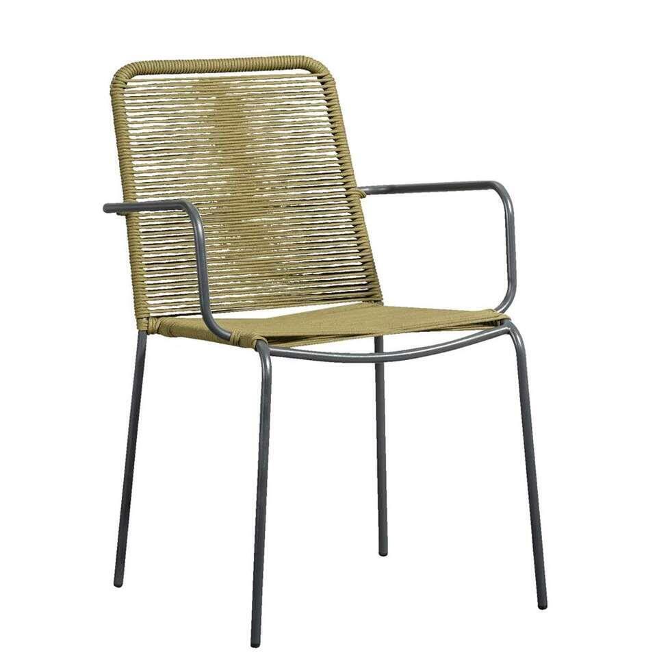 Le Sud fauteuil Metz - groen/antraciet - Leen Bakker