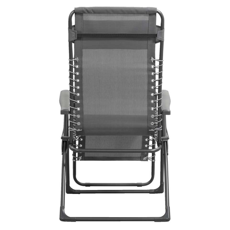 Chaise Relax De Camping Frejus Anthracite