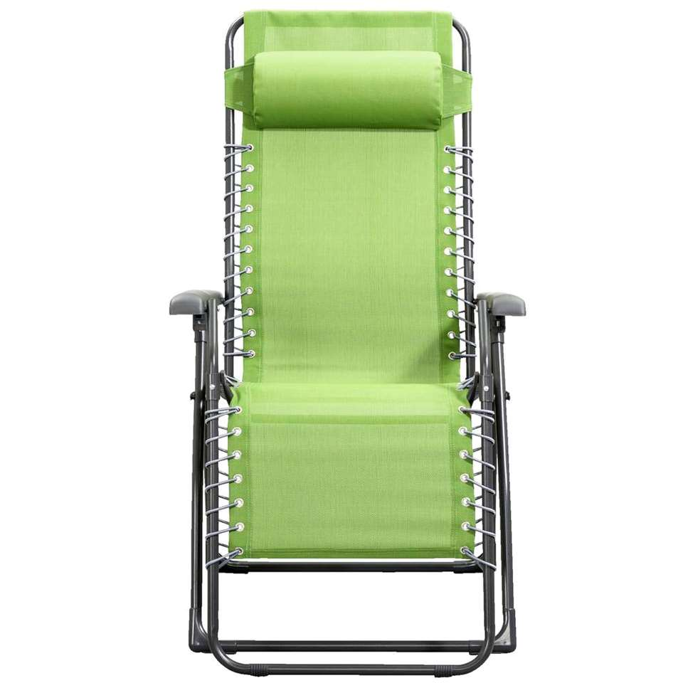 Camping relaxstoel Frejus - olijfgroen - Leen Bakker