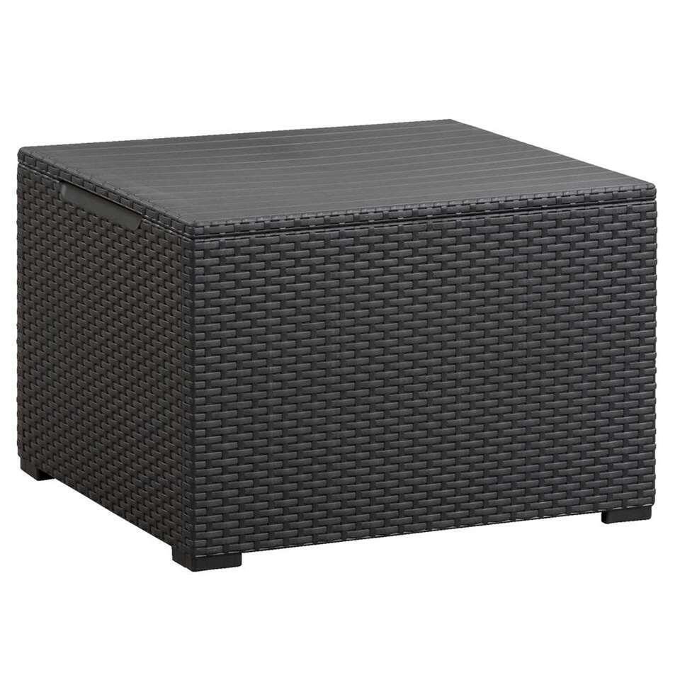 Keter table/boîte de rangement Emma - couleur anthracite - 60x22x39 cm